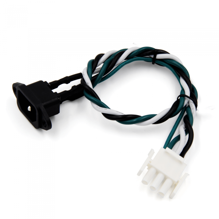 3P AC Power Socket Connector Cable Harness