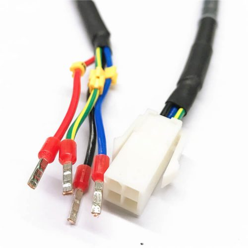 AMP 172159-1 4.2mm 4 Pin Male Connector to EVN 1008 Ferrule Insulated Terminal Wire Harness