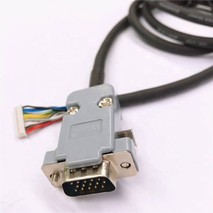 DB15P Male to 1.25 Female Housings TRVVP 0.1mm and 0.12mm Square VGA Servo Cable Assembly