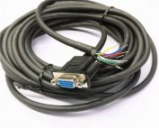 RS232 HDB 15P Female to open cable assembly