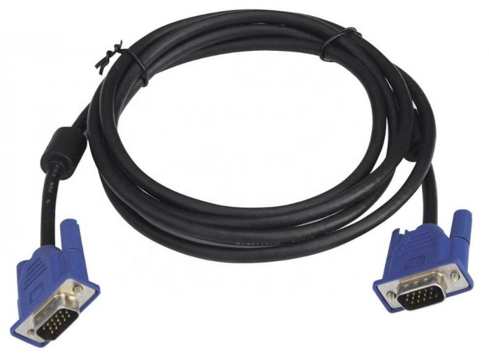 VGA Connector DB9P Molded Male to DB9P Male RS232 Cable Assembly