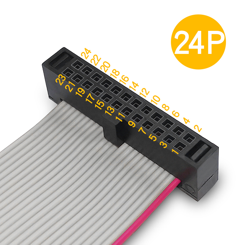 Pitch 1.27mm IDC Connector w SR Flat Ribbon Cable Assembly FFSD