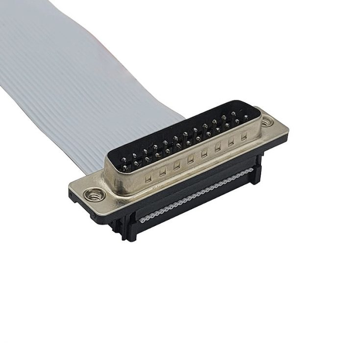 db25 Pin Connector Male Flat Ribbon Cable with Plug Socket