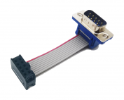 dsub 9Pin DB9 Male Connector to 2.54mm IDC Female 10Pin Flat Ribbon Cable Assembly